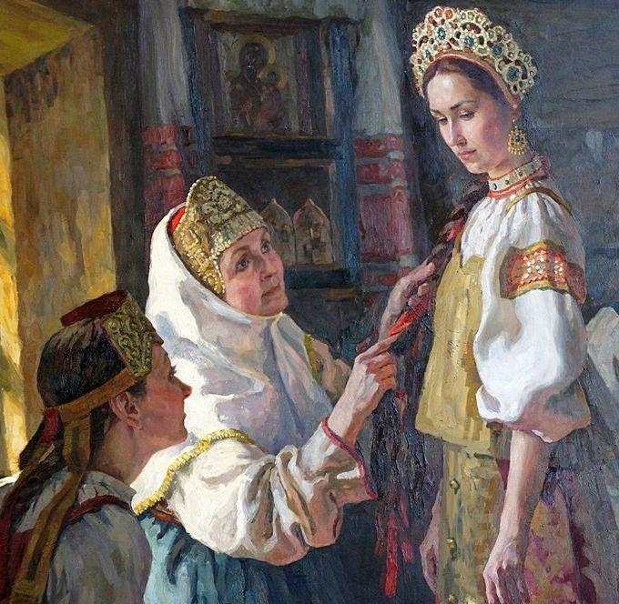 Русская народная песня Как хотела меня мать